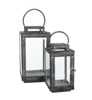 Jordan lantern black set of 2 - l20xw20xh39,5cm