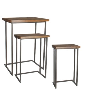 Harvey side table brown set of 3 - l39,5xw50xh69cm