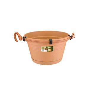 green basics hanging basket 28cm mild terra