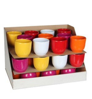 Tusca pot round 5 assorted pdq - h7xd8cm