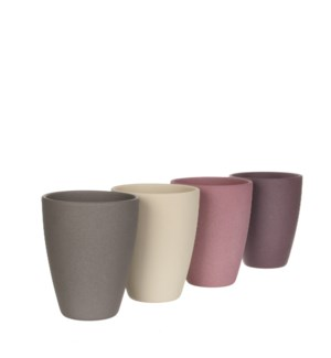 Tusca orchid pot round 4 assorted pdq - h17,5xd13,5cm