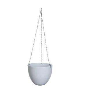 Tusca hanging pot round white - h15xd17,5cm