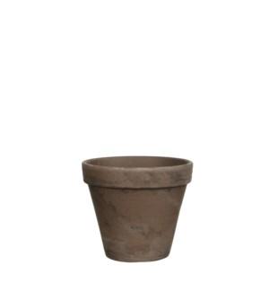 Stan pot round grey basalt - h9,5xd11,5cm