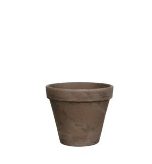 Stan pot round grey basalt - h11,5xd13,5cm