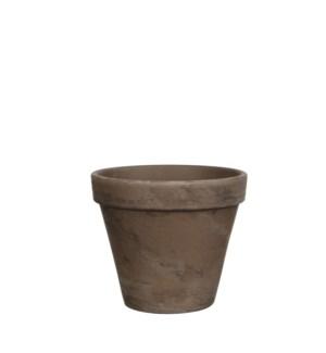 Stan pot round grey basalt - h13,5xd15,5cm
