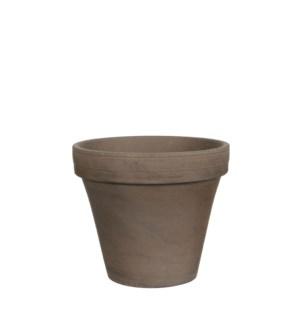 Stan pot round grey basalt - h15,5xd17,5cm