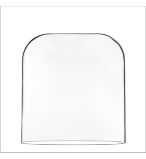 Ania cover oval transparent - l28,5xw15xh30cm