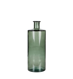 Guan bottle glass grey - h40xd15cm