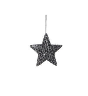 "Star Ornament 6"" Black"