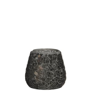 "Mosaic Tealight Holder 4x4"" Grey"