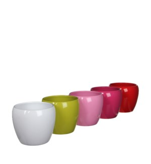 Lidy pot round 5 assorted pdq - h12xd14,5cm