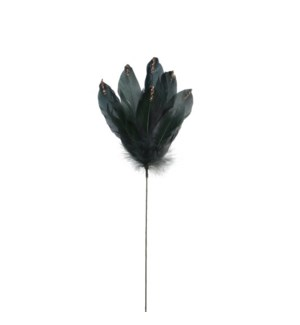 "Feather Spray 5.5x0.5x21.75"" Green"