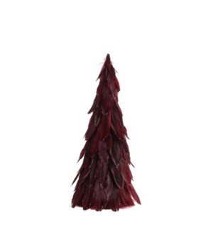 "Feather Tree 8x18"" Dark Red"