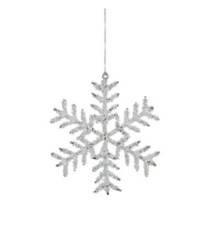 "Snowflake Ornament 6x6x0.25"" White"