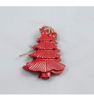 "Tree Ornament 2.75x3.5"" Red"