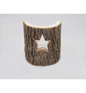 "Star Candleholder 5x6"" Dark Brown"