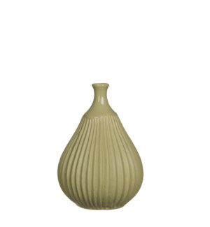"Corda Vase 5.25x7.25"" Light Green"