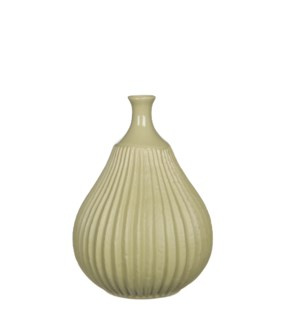 "Corda Vase 6.25x8.75"" Light Green"