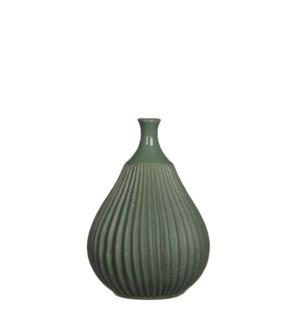 """Corda Vase 5.25x7.25"""" Green"""