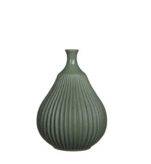 """Corda Vase 6.25x8.75"""" Green"""