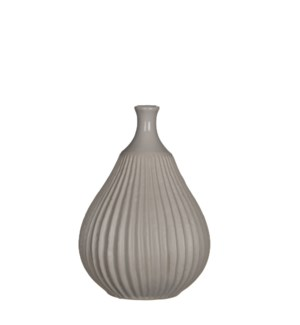 "Corda Vase 5.25x7.25"" Light Grey"