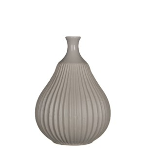 "Corda Vase 6.25x8.75"" Light Grey"