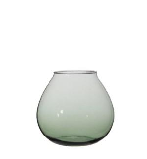 "Thelma Vase 7x7.75"" Green"