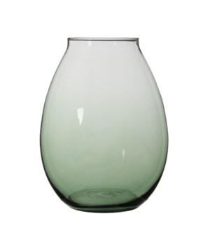 "Thelma Vase 13.5x10.25"" Green"
