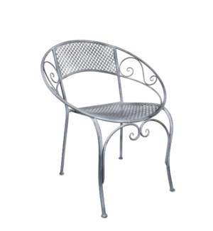 "Provence Chair 26x22x30"" Grey"