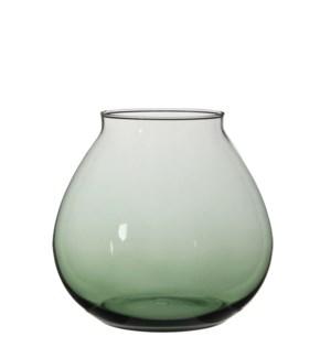"Thelma Vase 10.25x9.5"" Green"