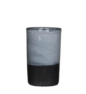 """Arya Vase 5.5x8.75"""" Grey"""