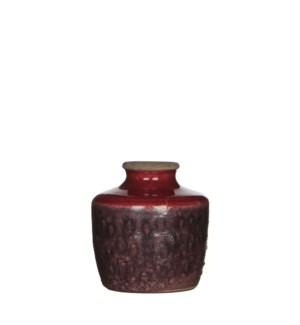 """Audrey Single Flower Vase 5x5"""" Mauve"""