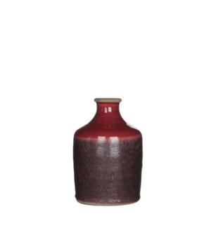 """Audrey Single Flower Vase 4.25x6.25"""" Mauve"""