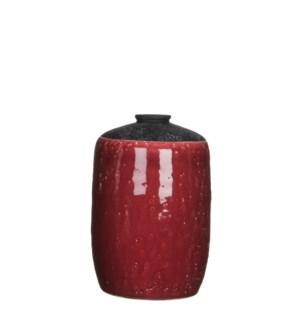 "Chelsea Single Flower Vase 5.5x8.25"" Mauve"
