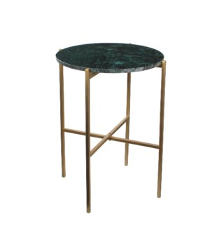 "Nanne Table 17x21.75"" Dark Green"