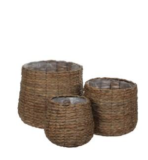"""Round Basket 11.75x12.25"""" Brown"""