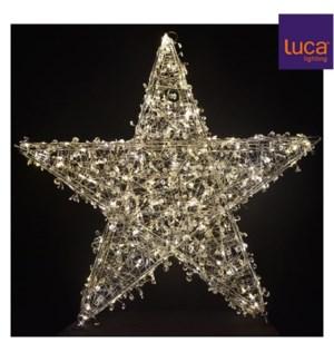 "Star silver white 3D 160led - 30.75x3.25"""