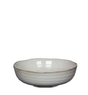"June bowl round off white - 8.5x2.75"""