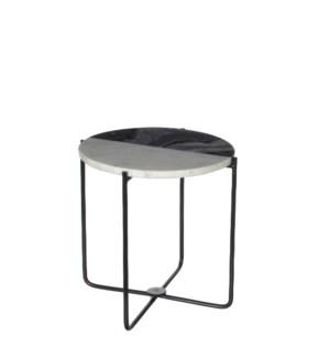 """Nanne planttable round marble grey - 12.5x12.5"""""""
