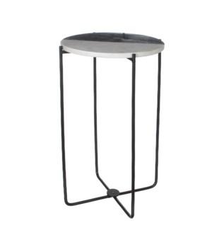 """Nanne planttable round marble grey - 12.5x19"""""""