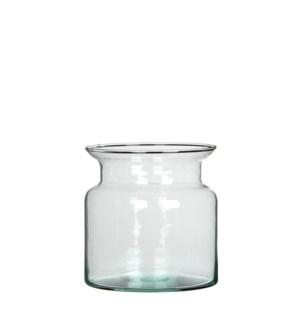 """Mathew pot glass transparent - 5x4.75"""""""