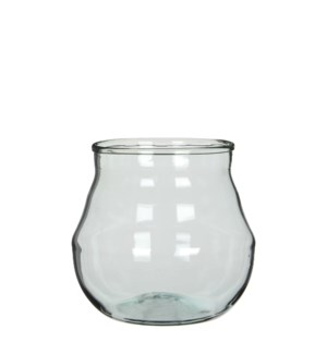 "Lennard pot round transparent - 8.5x6.5"""