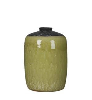 """Chelsea single flower vase l. green - 6.25x9"""""""