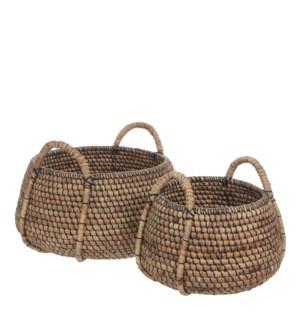 "Faltona basket brown set of 2 - 19.75x13.75"""