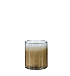 Elice vase glass taupe - 4x4.25""