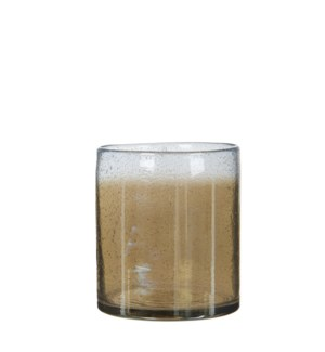 Elice vase glass taupe - 6x6.25""