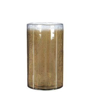 Elice vase glass taupe - 6x9.75""