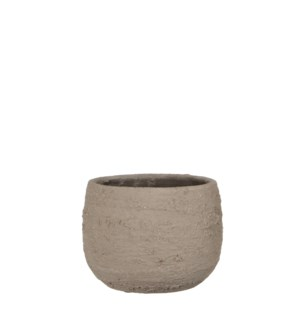 Gusto pot round taupe - 7x5.25""