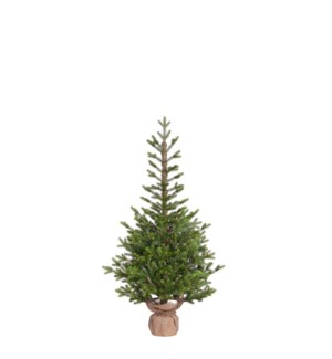 """Pierson xmas potted tree green outdoor use TIPS 825 - 28""""x4'"""