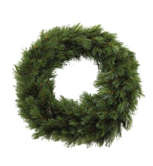 Forest frosted wreath green TIPS 140 - 17.75""